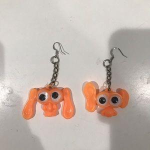 Orange goblin earrings